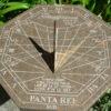 Horizontal sundial for the garden