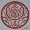Orologio affrescato rosso pompeiano